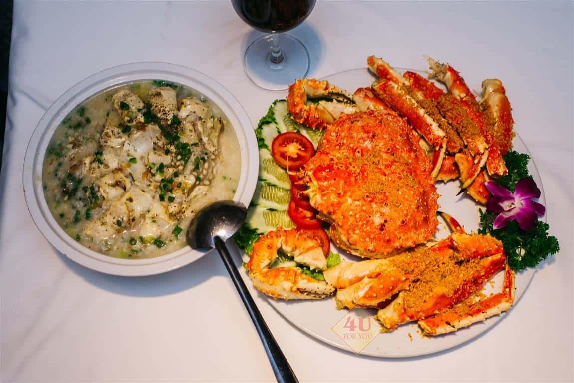 Cua Hoàng Đế Nấu Cháo / King Crab CONGEE