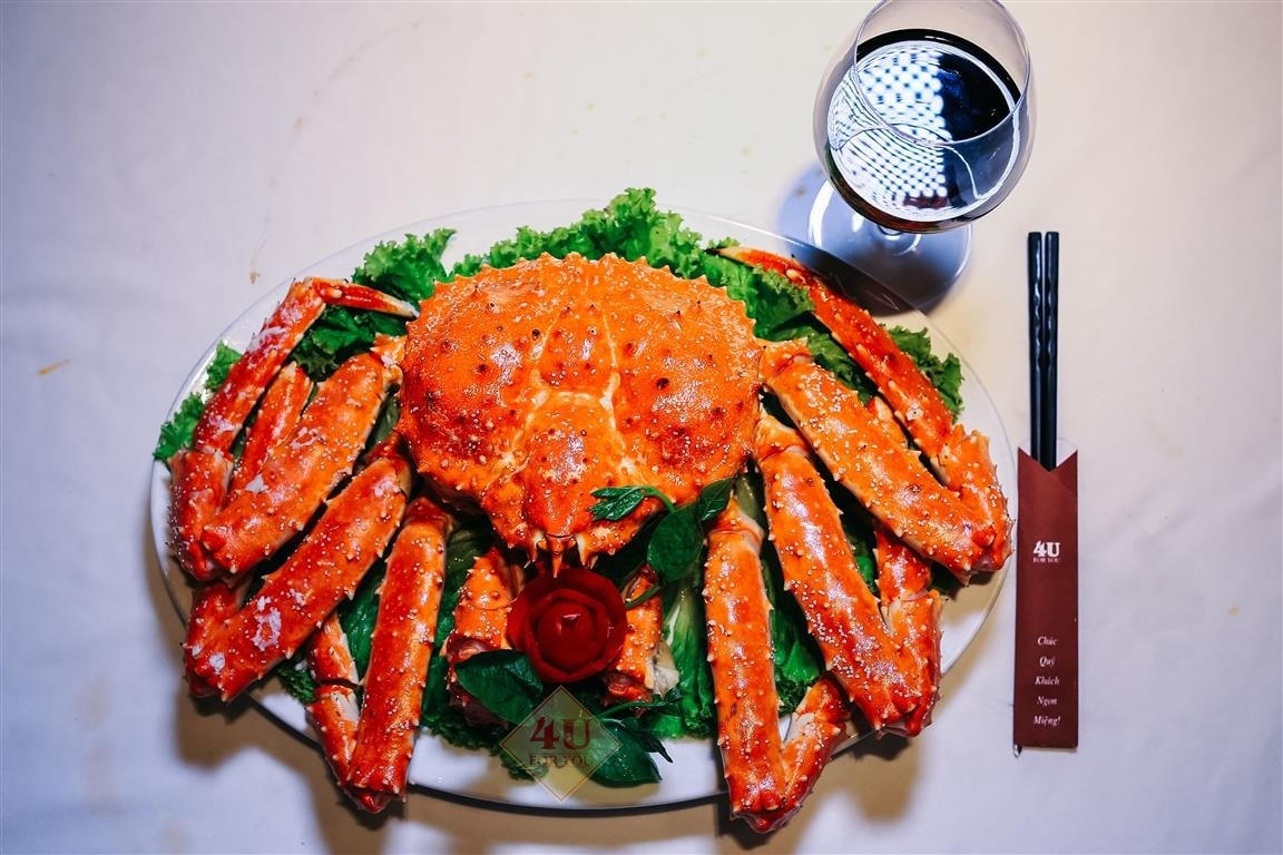 Cua Hoàng Đế Hấp / King Crab Steamed