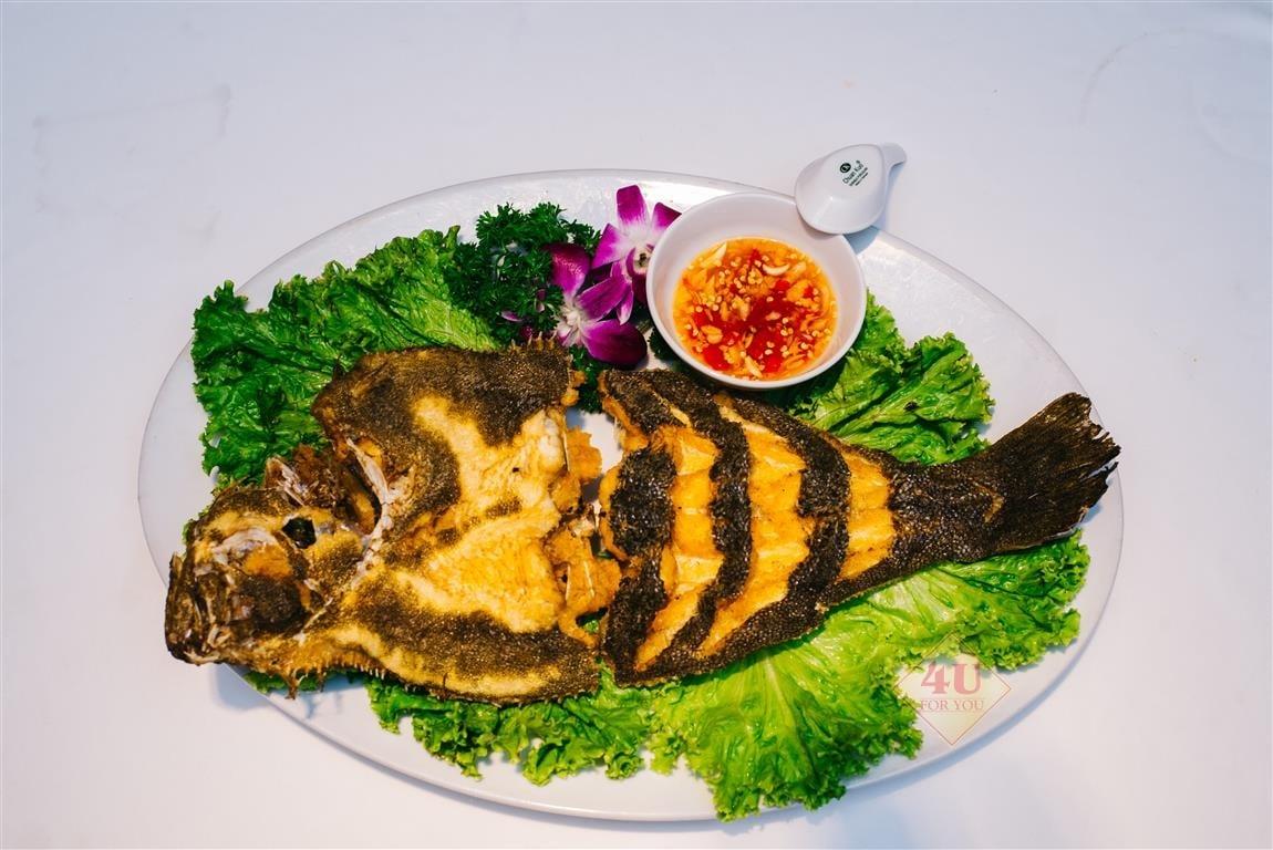 Cá Thờn Bơn Chiên / Flounder fish Deep-fried