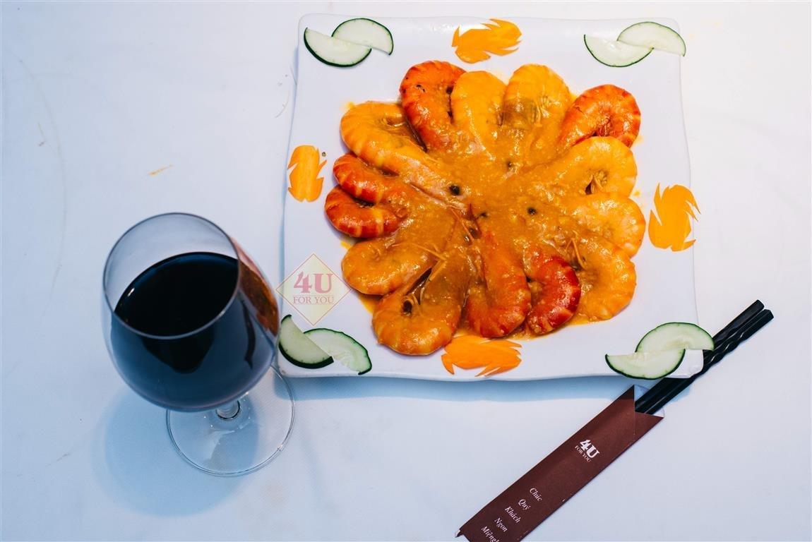 Tôm Sú Sốt Bơ Tỏi / Prawn Sauteed with butter and garlic