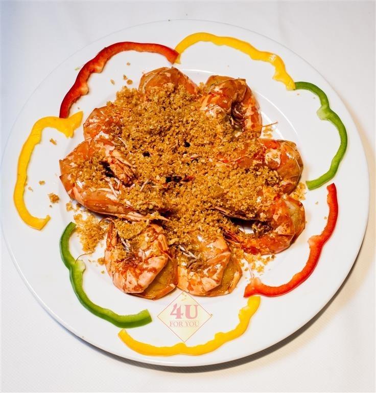 Tôm Sú Sốc Tỏi / Prawn Fried with garlic
