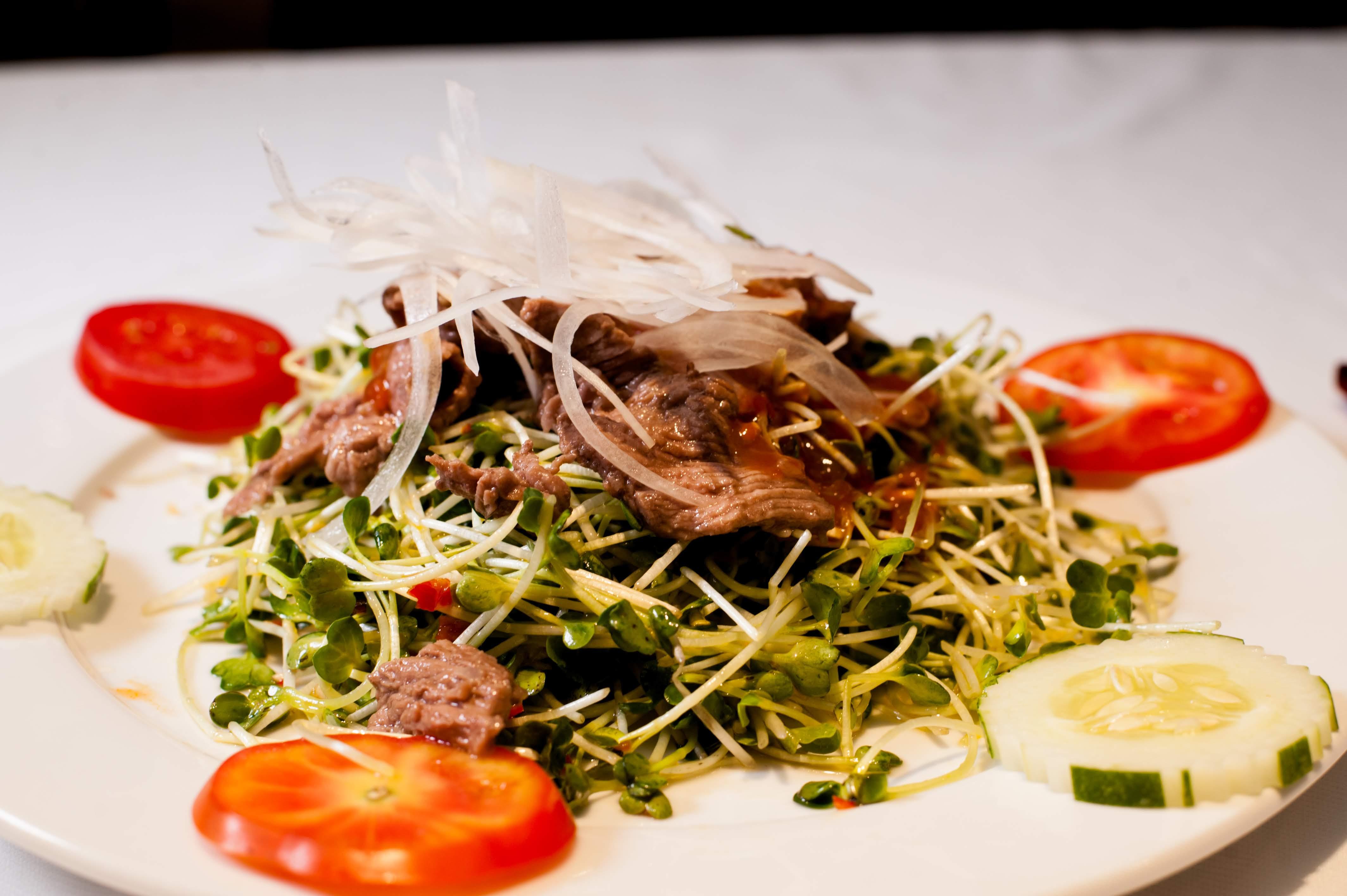 Mầm Cải Trộn Bò / Mustard green sprout and beef salad