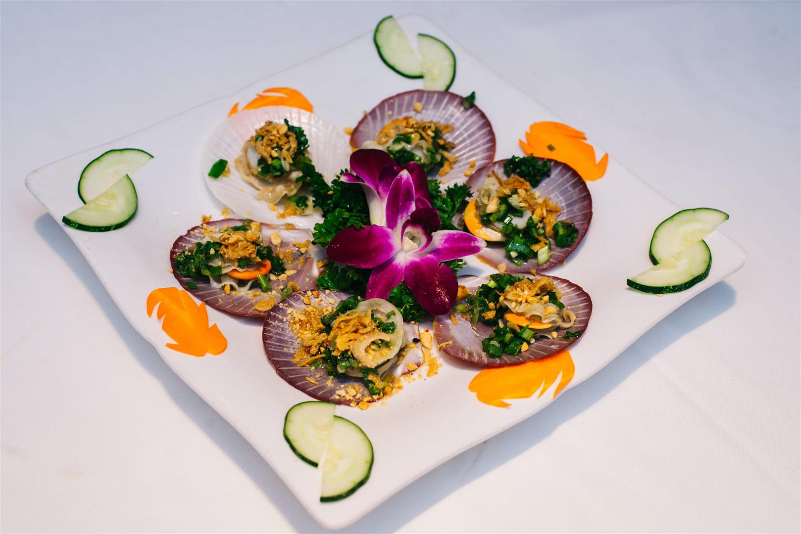Sò Điệp Nướng Mỡ Hành / Scallop Grilled with onion and oil