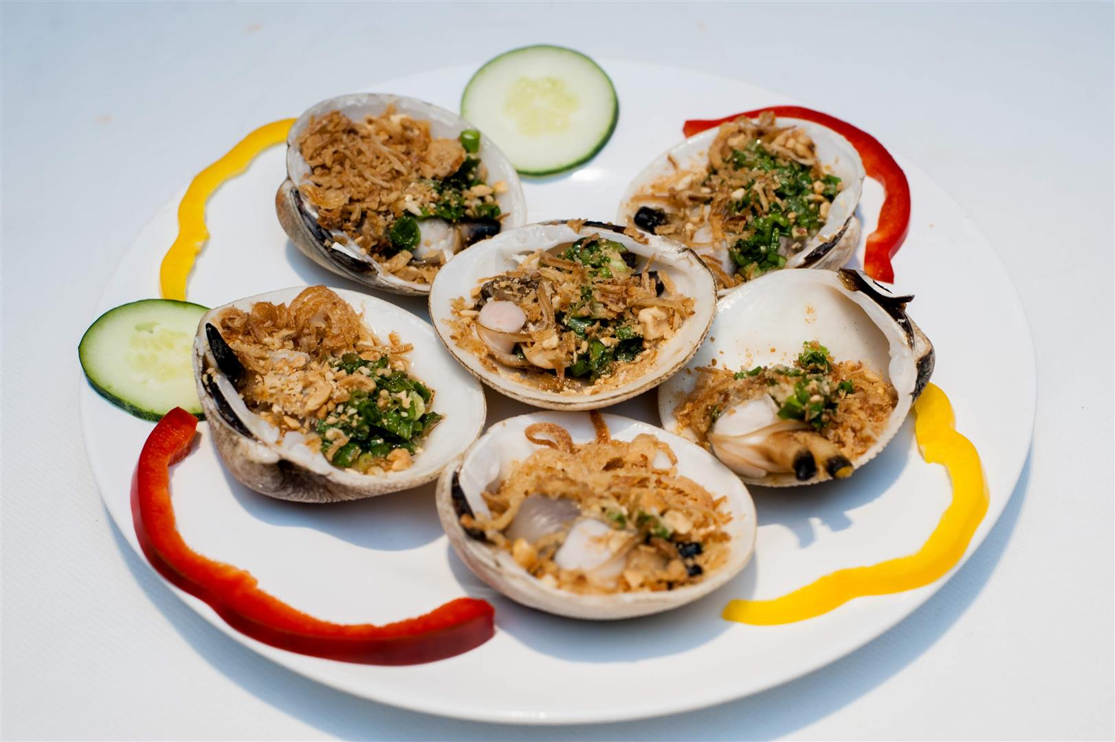 Sò Bung Nướng Mỡ Hành/ Seashell Grilled with onion and oil