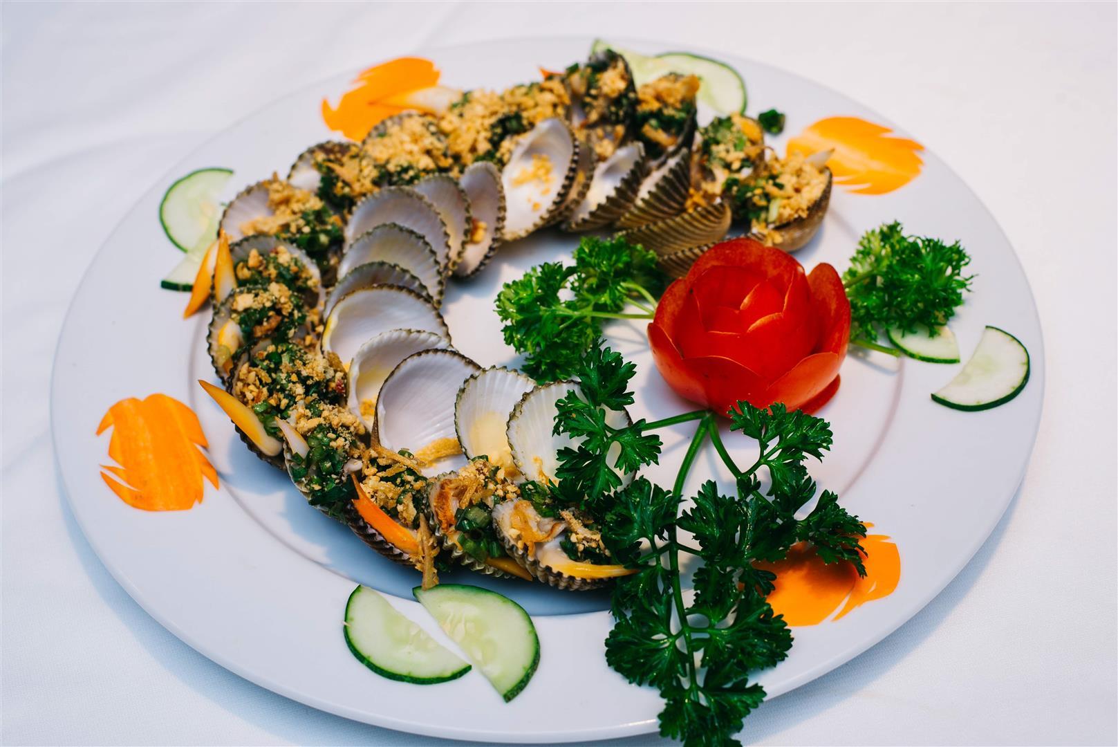Sò Dương Nướng Mỡ Hành / Seashell Grilled with onion and oil